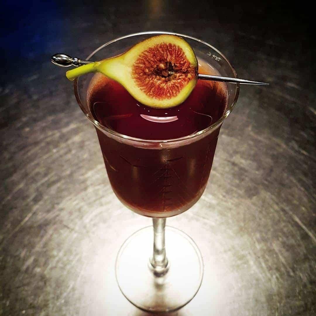 Bourbon Fig Manhattan
