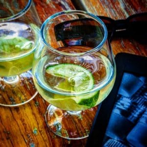 Mezcal with lime