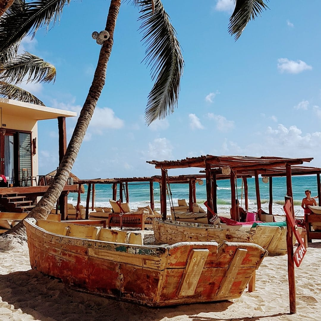 La Zebra Hotel Tulum Beach Boat