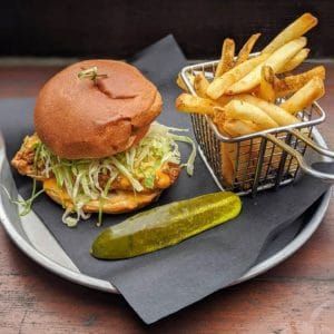 Copper Coil Still and Grill Chicken Burger and Fries