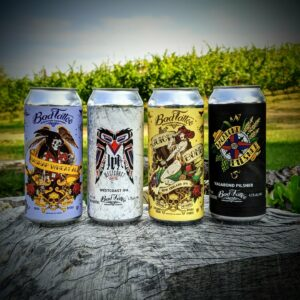Bad Tattoo Brewing Company Cans of Beer