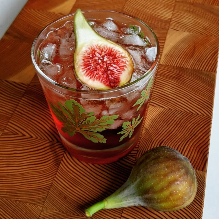 Fig-infused Bourbon Negroni