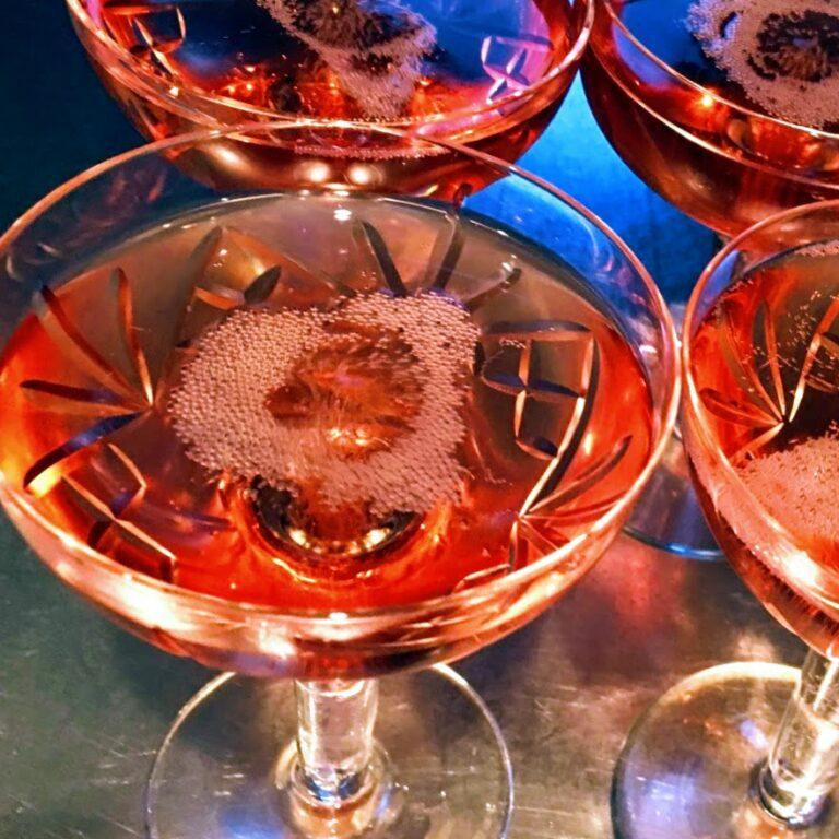 Rosé Champagne Cocktail