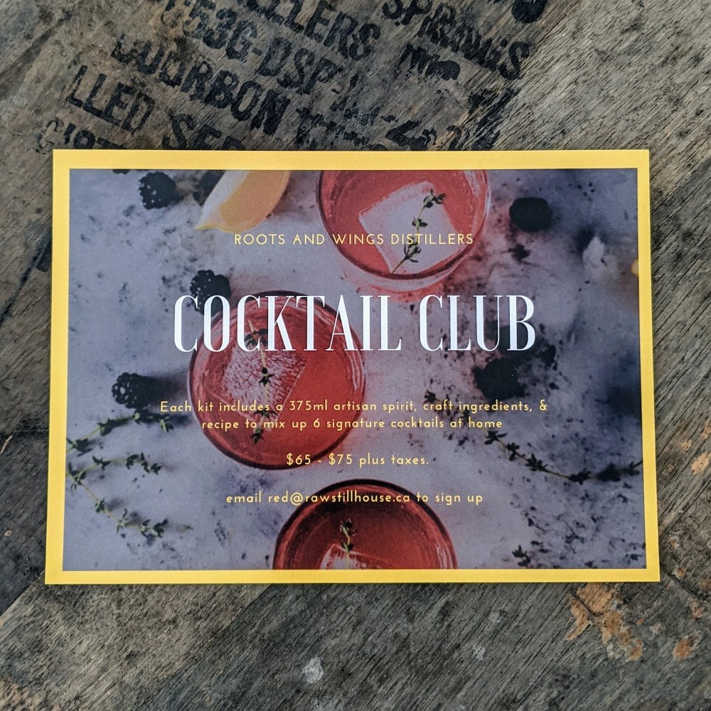 Roots and Wings Distillers Cocktail Club
