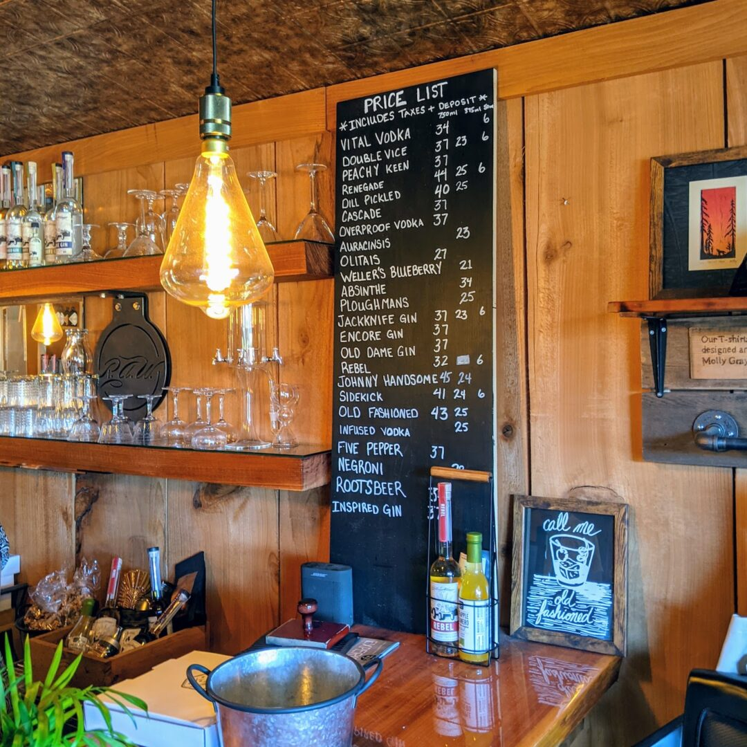 Roots and Wings Distillery Bar