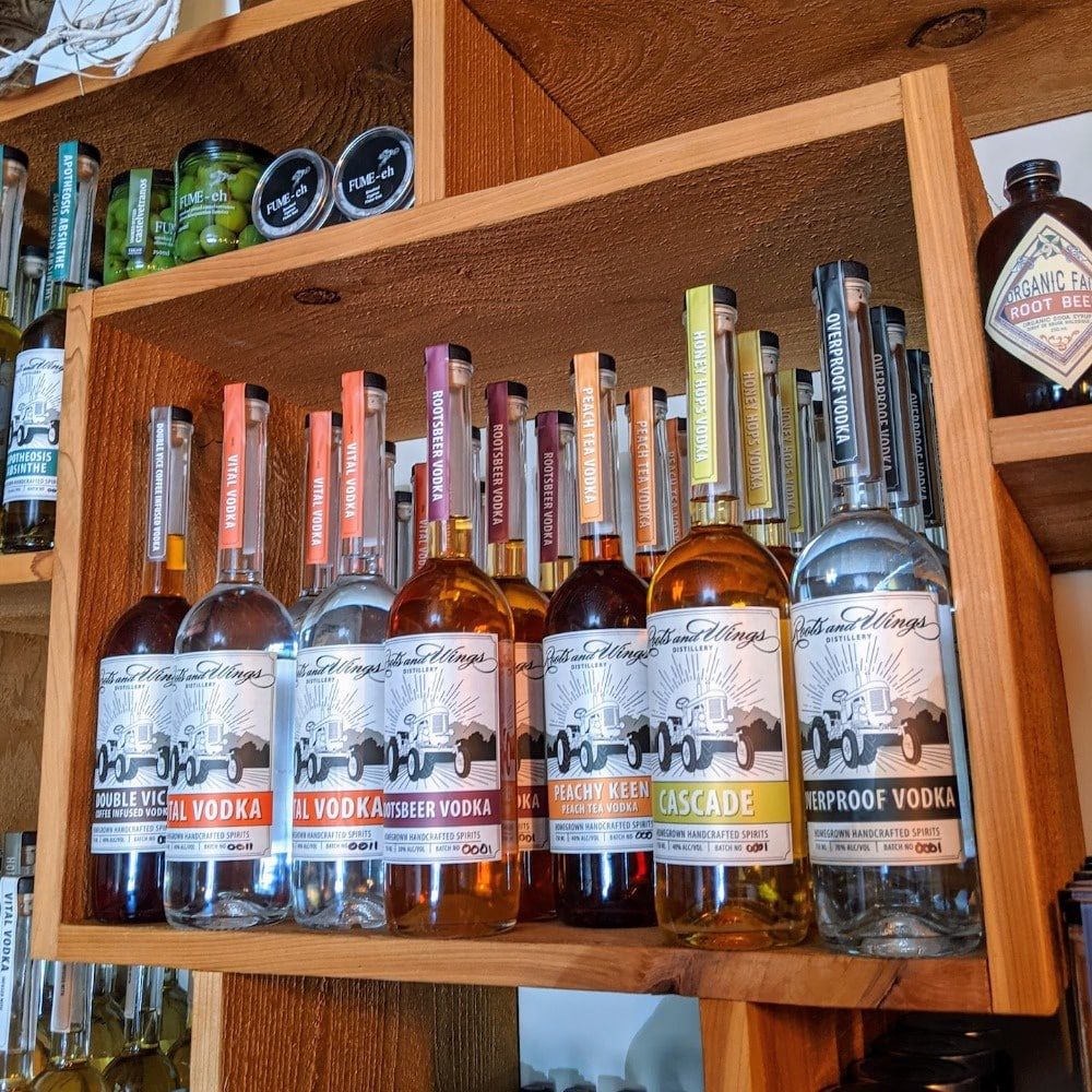 Roots and Wings Distillery Spirits