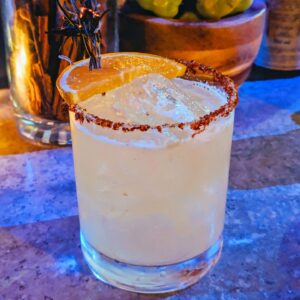 Torched Rosemary Margarita