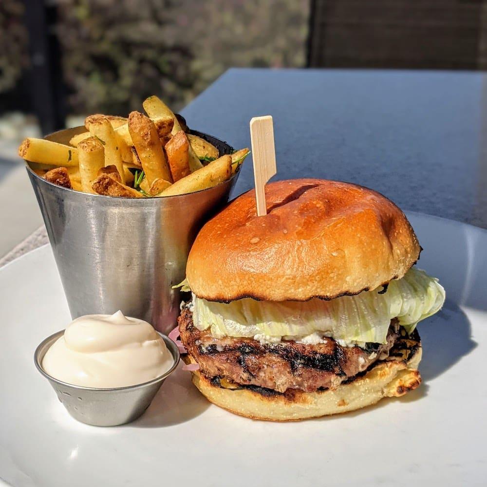 SmackDAB Lamb Burger and Fries