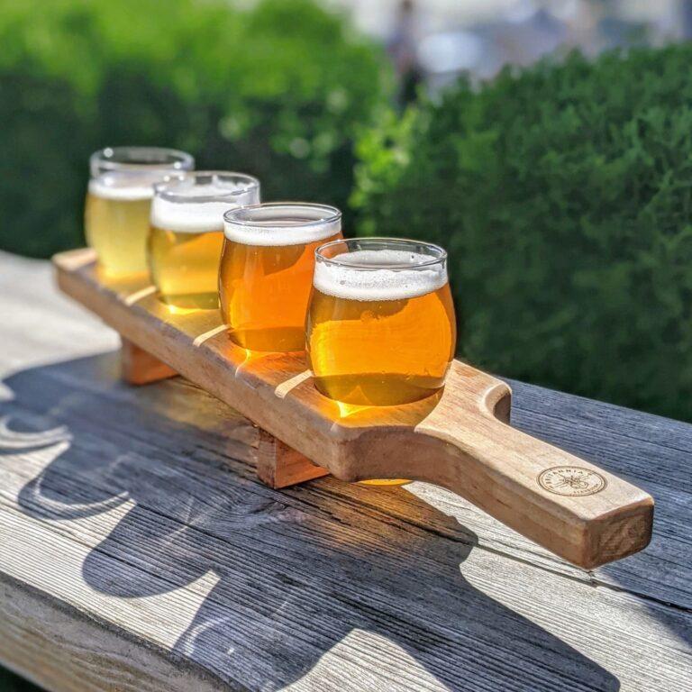 Britannia Brewing Beer Flight