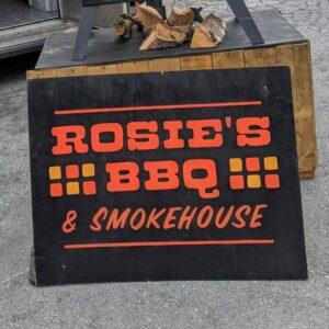 Rosie's BBQ & Smokehouse Logo Sign